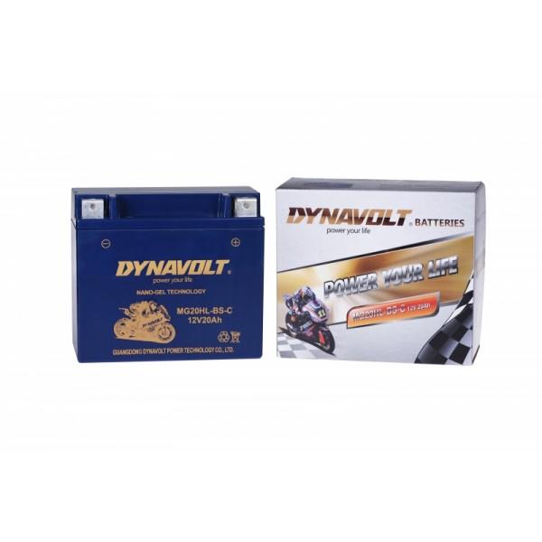 Dynavolt GEL MG20HL-BS-C / MG20-BS / GTX20L-BS (DIN 52014)