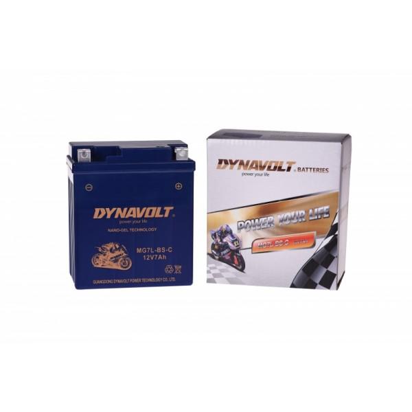 Dynavolt GEL MG7L-BS-C / MGZ7L-BS / GTX7L-BS (DIN 50614)