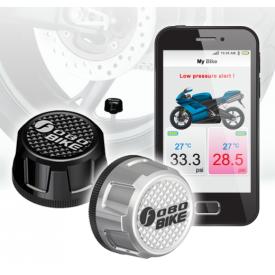 FOBO Bike Motorfiets Bandenspanning en Temp. Monitor Kit Zilver (2st, bluetooth)